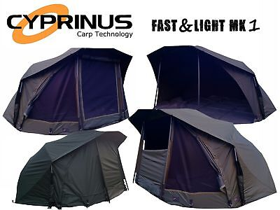 "Cyprinus Fast and Light 60"" Carp Fishing Brolly Bivvy System shelter 14000HH"