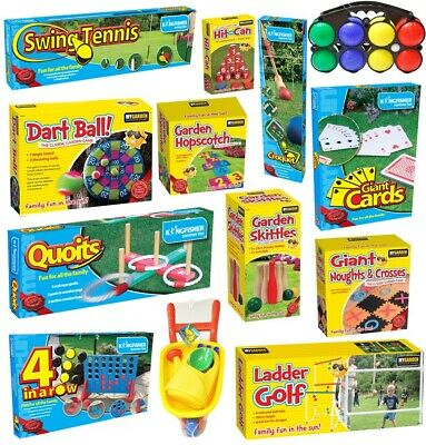 Giant Garden Games Outdoor Summer Beach Bbq Kids Fun Quoits Jenga Limbo Dominoes