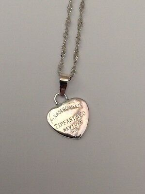 Silver Tiffany Necklace Superb Gorgeous
