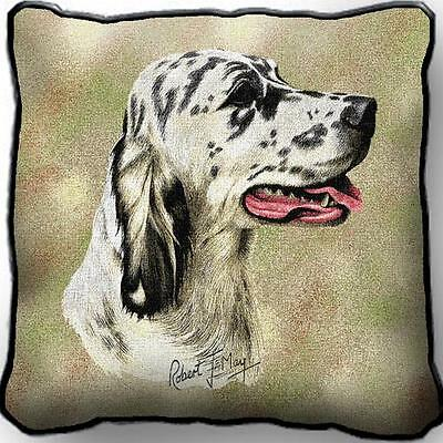 "17"" x 17"" Pillow - English Setter II by Robert May 2362"