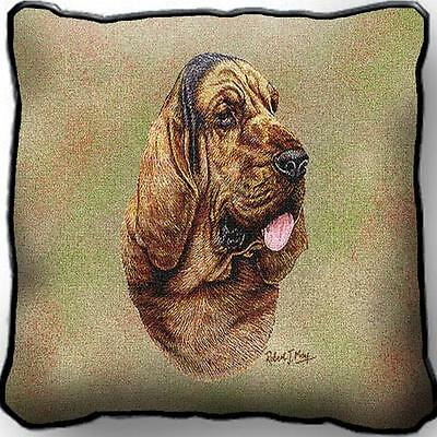 """17"""" x 17"""" Pillow - Bloodhound by Robert May 3311"""