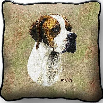 """17"""" x 17"""" Pillow - English Pointer by Robert May 3382"""