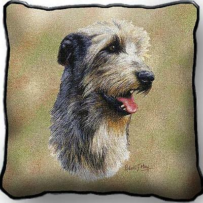 "17"" x 17"" Pillow - Irish Wolfhound by Robert May 3323"