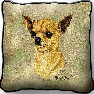 "17"" x 17"" Pillow - Chihuahua II by Robert May 2358"