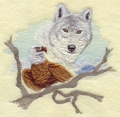 Embroidered Short-Sleeved T-Shirt - Wolf and Eagle E5024 Sizes S - XXL