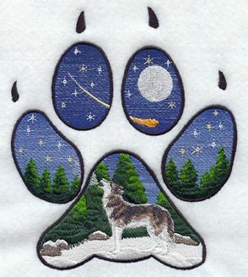 Embroidered Short-Sleeved T-Shirt - Wolf Track M1550 Size S - XXL