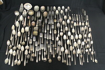 10 Lbs Vintage Silverplate Silver Plated Flatware Lot (690)