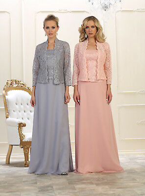 Chiffon/Lace Long Mother Of Bride/Groom Gown Formal Dress Party Evening M~8XL