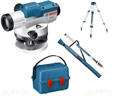 BOSCH GOL 20 D Optical Level With 20x Magnification + Levelling Rod & Tripod