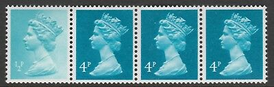 Great Britain 7319 - 1981 READERS DIGEST COIL STRIP with VARIETY unmounted mint