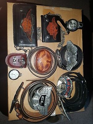 Harley davidson belts buckles wallets and watchs