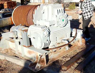 Monster Winch construction mining 7.5 hp 2000:1 ratio .9 rpm 7/8 cable 35 ton??