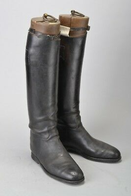 Foxhunter's 1930s' Maxwell of London Leather Riding Boots & Trees. Ref DIJ
