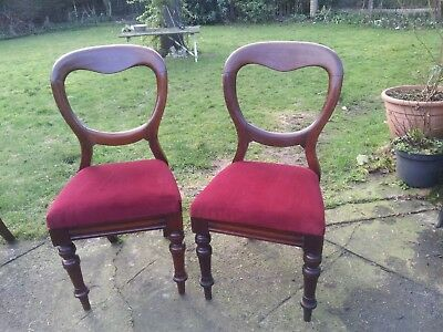 2 (pair) of balloon back chairs. Lovely