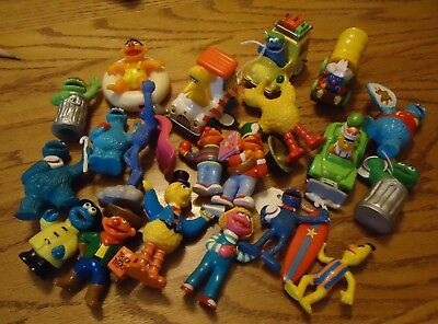 Vintage Muppets Sesame street pvc figures and vehicles