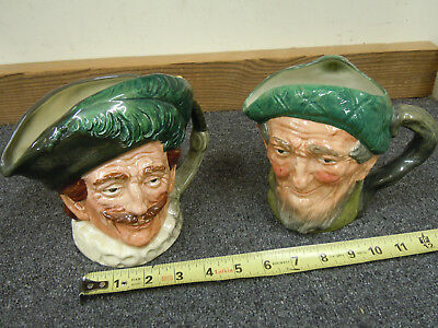 Lot of 2 Royal Doulton Character Mugs Cavalier & Auld Mac 6 inch Toby Jugs