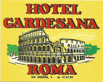 HOTEL GARDESANA luggage DECO label (ROMA)