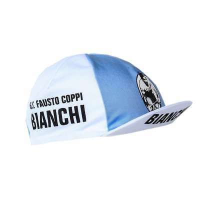 BIANCHI GS FAUSTO COPPI RETRO CYCLING TEAM CAP - Vintage - Fixie - Made in Italy