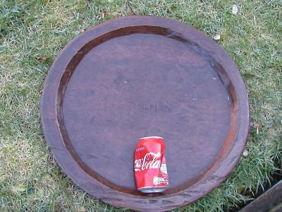 "Antique 19"" Tamanan Fruit Bowl Tray Indonesian Oceania Primitive Wooden Treen"