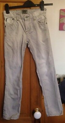 Next Boys Light Grey Distressed Style Denim Jeans - Aged 9 Yrs