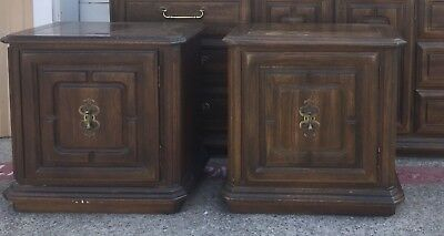 2 Wood  One Drawer Door Cabinet Night Stands Bed Side End Tables  - Pickup Only