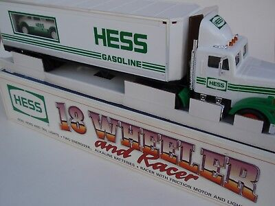 Vintage 1993 Hess 18 Wheeler and Racer Friction Motor Car Rear Tail Lights MIB