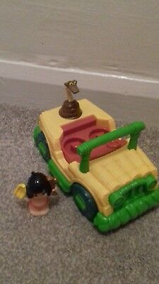 Disney Little Kingdom Rare Jungle Book Mowgli And Singing Car