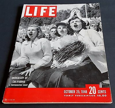 October 25, 1948 LIFE Magazine. Complete. Old 40s ads FREE SHIPPING Oct 10 24 26