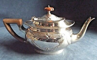 SUPERB ~ Mappin & Webb ~ SILVER Plated ~ GEORGIAN Style ~ Bulbous TEAPOT ~ c1890