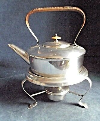 Good LARGE ~ SILVER Plated ~ AESTHETIC Styled ~ Spirit KETTLE on Stand ~ c1900
