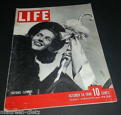 October 14, 1940 LIFE Magazine PONTIAC Torpedoes 40s ads FREE SHIPPING Oct 10 13