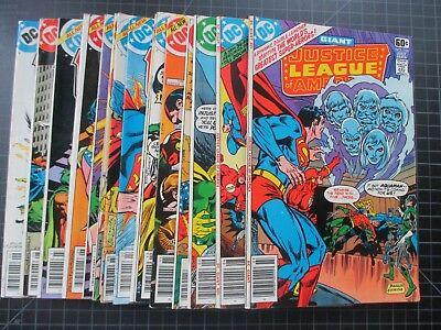 Dc Justice League Of America #156-170 1978