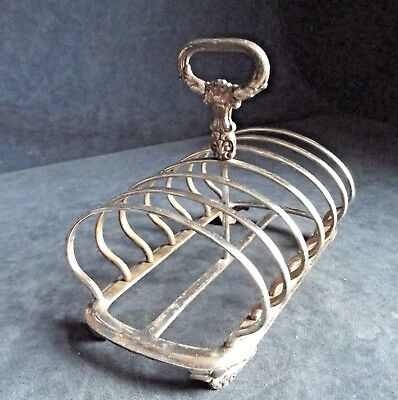 SMART Large VICTORIAN ~ SILVER Plated ~ TOAST / Letter RACK ~ c1840 by Gilbert