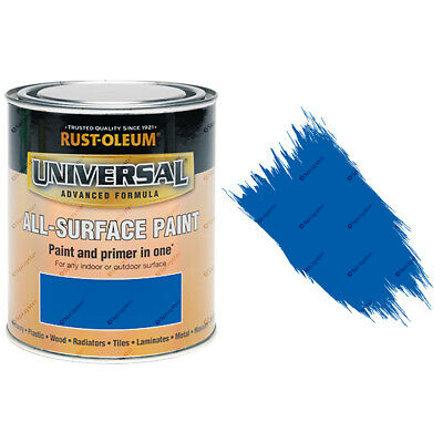Rust-Oleum Universal All-Surface Self Primer Brush Paint Gloss Cobalt Blue 750ml