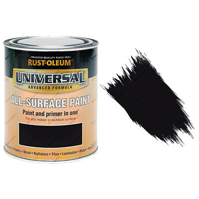 Rust-Oleum Universal All-Surface Self Primer (Brush) Paint Gloss Black 750ml