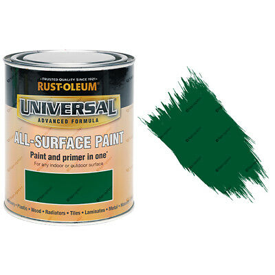 Rust-Oleum Universal All-Surface Self Primer Paint Gloss Emerald Green 750ml