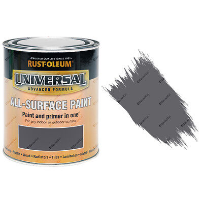Rust-Oleum Universal All-Surface Self Primer (Brush) Paint Gloss Dark Grey 750ml