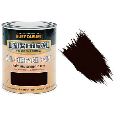 Rust-Oleum Universal All-Surface Self Primer Paint Gloss Espresso Brown 750ml