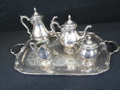 Remembrance 1847 Rodger Bros IS 9803 Silver Soldered Coffee & Tea Server (140)