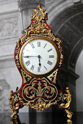 antique french boulle bracket clock ormolu brass inlay 19th century faulty