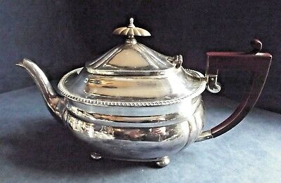 SUPERB Large ~ SILVER Plated ~ FLUTED Bulbous TEAPOT ~ c1925 by Adie Brothers