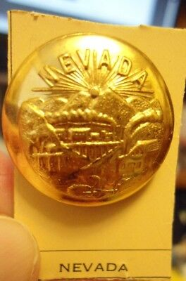 Gold Tone Metal New Nevada State Button Superior Quality Button Co Free Ship