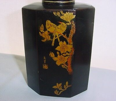 Exquisite SIGNED Hand Painted SCENES with BIRDS Old JAPANESE Lacquer BOTTLE BOX