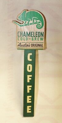 Wooden Chameleon Cold Brew Coffee Tap Handle Austin Texas