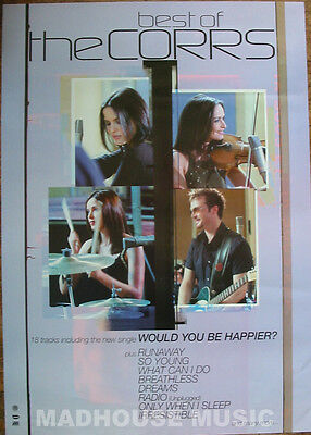 """CORRS POSTER Best Of UK PROMO ONLY rare 32"""" x 24"""" MINT"""