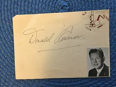 "LOT # 4528 DONALD O'CONNOR AND PEGGY RYAN  Autograph 3.75"" X 5.5"""