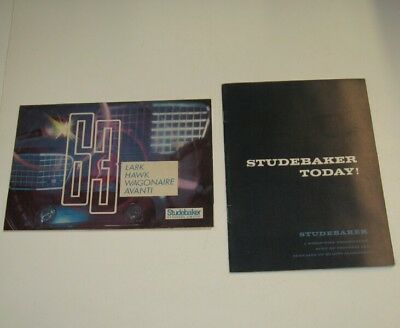 1963 STUDEBAKER DEALER BROCHURES * POSTER AND STUDEBAKER TODAY! No Reserve Woo0