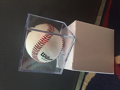 Baseball Cube Display Holder / Clear Case / Gift , Signature - Cricket, Tennis