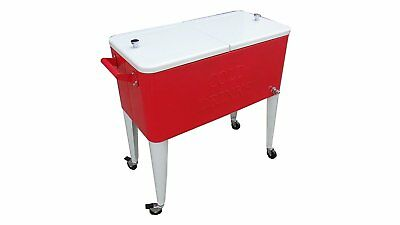 Permasteel PS-203-RED/WHT 2-Tone Patio Cooler, 80-Quart, Red/White