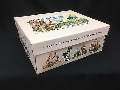 """Vintage Mother Goose Shoe Box circa 1954 Illustrated CUTE!! 10"""" x 9"""" x 4"""""""